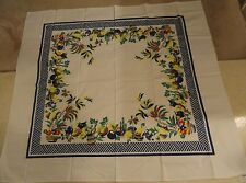 Vintage Style Reproduction Mexican Festive Tablecloth Red Blue Yellow 60x53