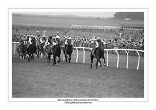 DANCING BRAVE GREVILLE STARKEY 1986 2000 GUINEAS HORSE RACING A4 PHOTO