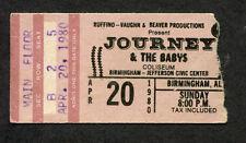 1980 Journey The Babys Concert Ticket Stub Birmingham Departure Steve Perry
