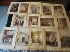 Antique 1870s lot of 14 Juan LAURENT Spain  Albumen Photos Granada Sevilla Jean