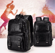 Men's Real Leather Travel Large Shoulders Bag Laptop Backpack Computer Notebook