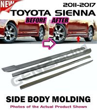 11-17 TOYOTA SIENNA Lower Body Chrome Molding Trim w/ emblem (STAINLESS STEEL)