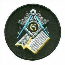 Masonic Masons Bible Motorcycle MC Club NEW Embroidered Biker Vest Patch