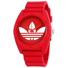 Adidas Santiago Red Dial Red Rubber Strap Mens Watch ADH6168