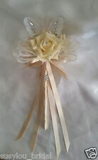 Wedding Flowers Bridesmaid Butterfly Wand Cream Champagne Butterfly Flower Girl