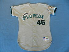 Ryan Dempster 1999-2000 Florida Marlins game used jersey road size 46+2