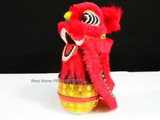 Red Chinese Oriental Dragon Lion New Year Dance Car Window Bobble Head Fu Dog