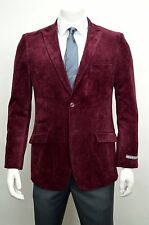 Men's Burgundy Cotton Sport Jacket Size 52R NEW Blazer