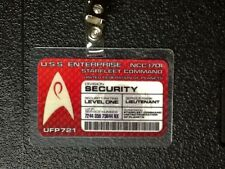 Star Trek ID Badge-Starfleet Command Security Prop Costume Cosplay