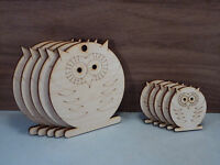 Wooden owls Shape 4mm birch ply wood craft Blank, Tags, plaques and cut-outs