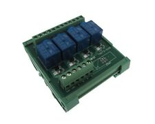 4 Channel 5VDC Relay Board PLC DIN Rail Mounting common anode - NPN