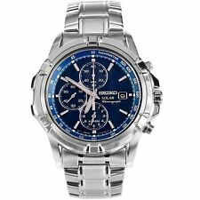 SEIKO SOLAR CHRONOGRAPH ALARM SSC141P1 FREE EXPRESS BLUE SSC141 MENS WATCH