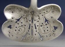 VICTORIAN BUTTERFLY STERLING SILVER SUGAR SIFTER SPOON 1893 ANTIQUE