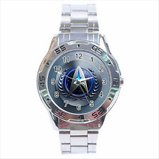 NEW* HOT STAR TREK BADGE Stainless Steel Analogue Watch Gift D04