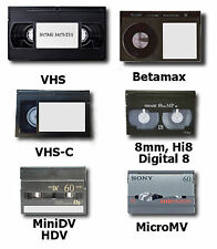 10 VIDEO TAPES TRANSFERRED TO DVD VHS, VHS-C, 8MM, Hi8MM, DIGITAL 8, MINI DV