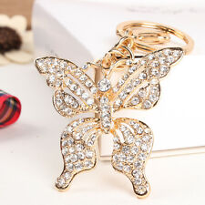 Big Butterfly Lovely Charm Pendent Crystal Purse Bag Key Chain Exquisite Gift