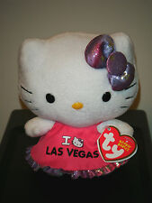 Ty Beanie Baby ~ HELLO KITTY I LOVE LAS VEGAS ~ NEW ~ MINT with MINT TAGS