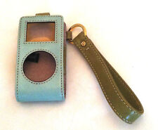 Vintage Kate Spade Mini-ipod Leather Case 2 tone Blue & Green Wriststrap