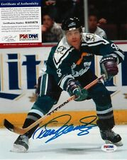 TEEMU SELANNE SIGNED ANAHEIM DUCKS WILDWING 8x10 PHOTO PSA/DNA IN THE PRESENCE