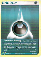 POKEMON EX RUBY AND SAPPHIRE EXPANSION REVERSE HOLO CARD 93/109 DARKNESS ENERGY
