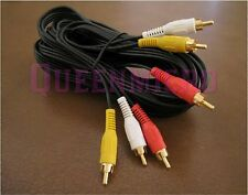 5 PACK x 6Ft 3-RCA Composite Audio Video AV Gold Plated Cable Male to Male 6 Ft
