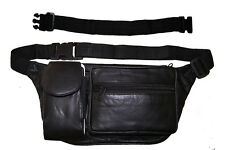 Leather Fanny Pack Travel Waist Bag Pouch Large Cell Holder, Extention belt 18""