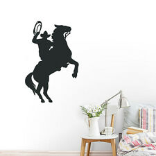Cowboy Roper Horse Wall Sticker Vinyl Decal Removable Home Art Decor Wall Mural