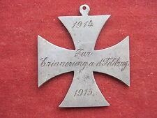 Andenken Kreuz 1914/1915 Zur Erinnerung a.d.Feldzug Grabenarbeit