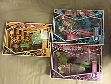 Monster high Dawn of the dance lot. Cleo de Nile, Clawdeen Wolf, Frankie Stein