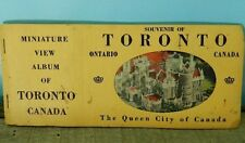 Vintage Miniature View Postcard Album of Toronto Canada