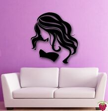 Wall Stickers Vinyl Decal Hot Sexy Girl Female Beauty Hair  Spa Salon (ig074)