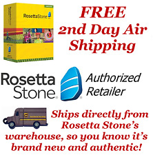 Rosetta Stone English1 2 3 4 5 Homeschool ~Headset~Audio CDs~Printable Workbooks