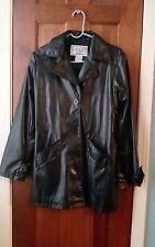 bb dakota black faux leather jacket sz L euc