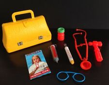 Vintage 1970s 1974 Hasbro Toyville Hospital Guide Doctor Nurse Kit Medical Bag