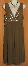 NEW/TAGS JACQUI E Sequined Bodice, Softly Pleated Skirt, Evening Dress Size 6-8