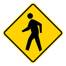 Pedestrian Crossing Symbol Sign - 24 x 24. A Real Sign. 10 Year 3M Warranty.