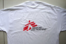 T-shirt white 100% cotton size XL doctor's without borders logo in french