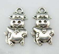 24pcs Tibetan Silver wear a tie Cattle Charms Pendants 10x18mm