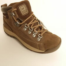CATERPILLAR  - ACTIVE ALASKA CHOCOLATE NUBUCK LEATHER  ANKLE BOOTS WOMEN SIZE 4