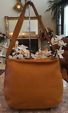 COACH Vintage Legacy  4161 large hobo shoulder Yellow Leather tote bag EUC