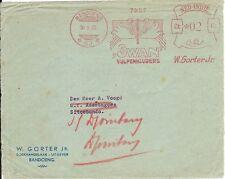 Netherlands Indies Meter Stamp Front (53) 1933 SWAN fountain pen