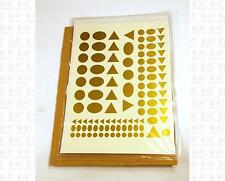 Virnex HO Decals Circle Oval Triangle Logo Shapes Gold 1989