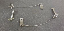 BIMINI TOP STAINLESS QUICK RELEASE PIN PAIR WITH CABLES.