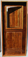 RUSTIC SOLID wood DOOR reclaimed lumber panel opens speakeasy on top square top