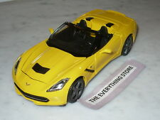 MAISTO PREMIERE DC 2014 CHEVY CORVETTE STING RAY 1:24 YELLOW BLACK USA FREE SHIP