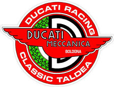 """#k102 3"""" Ducati Meccanica Racing Classic Vintage Decal Sticker LAMINATED Red"""