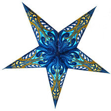 "24"" Blue Splash Paper Star Lantern, Hanging Decoration"
