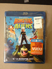 Monsters vs. Aliens (Blu-ray, 2009) OOP! GREAT FAMILY MOVIE! SEE PICS! FREE SHIP