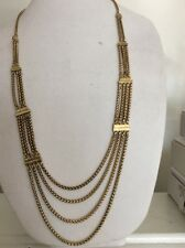 $45 Lucky Brand Gold  Tone Multi Chain Necklace  Item 140 (5)