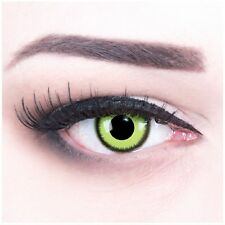 Coloured Contact Lenses Green Lunatic Contacts Color Carnival + Free Case green